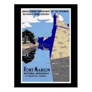 Cartão Postal Monumento nacional St Augustine Florida de Marion