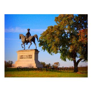 Cartão Postal Monumento no campo de batalha de Gettysburg
