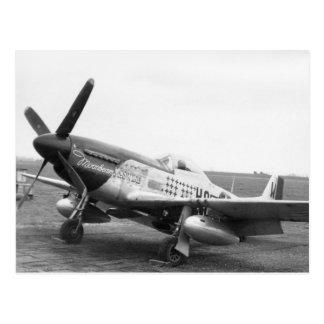 """Cartão Postal """"Moonbeam McSwine"""" P51 Mustan, USAAF WW2"""