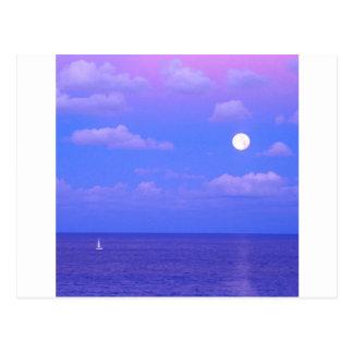 Cartão Postal Moonrise Enchanted mar Cancun