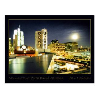 Cartão Postal Moonrise sobre jardins de Yerba Buena