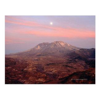 Cartão Postal Moonrise sobre Mount Saint Helens