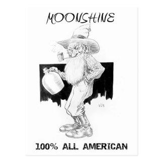 Cartão Postal Moonshine - 100% toda americano!