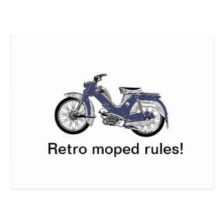 Cartão Postal Moped retro