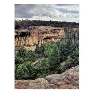 Cartão Postal Moradias de penhasco do Mesa Verde