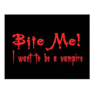 Cartão Postal Morda-me que eu quero ser um vampiro
