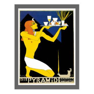 Cartão Postal Morre a arte do anúncio da bebida do vintage de