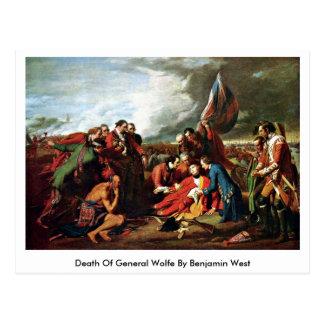 Cartão Postal Morte do general Wolfe Benjamin Oeste