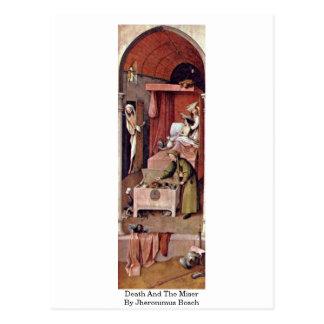 Cartão Postal Morte e o avarento por Jheronimus Bosch