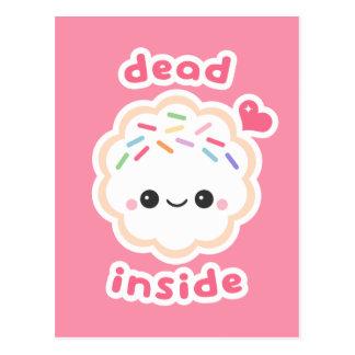 Cartão Postal Morto bonito dentro do biscoito