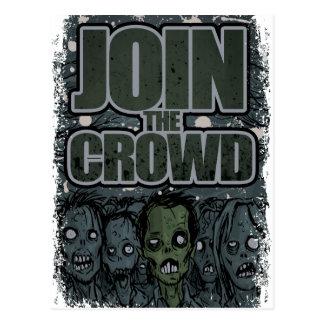 Cartão Postal Morto da multidão do monstro do zombi de Wellcoda
