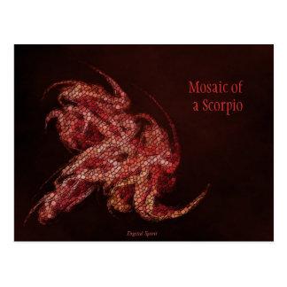 Cartão Postal Mosaico de uma Escorpião