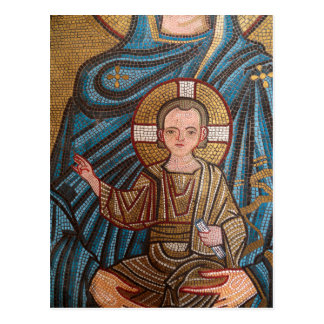Cartão Postal Mosaico do bebê Jesus