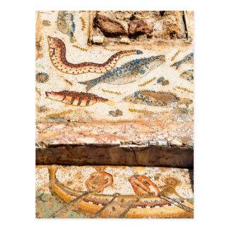 Cartão Postal Mosaico romano antigo