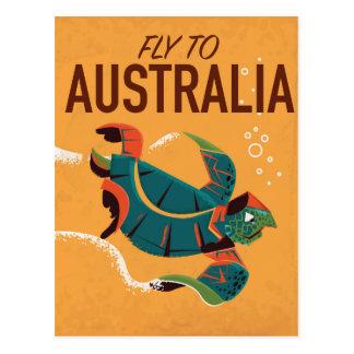Cartão Postal Mosca ao poster das viagens vintage de Austrália
