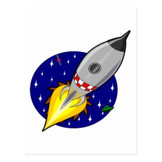 Cartão Postal Mosca de Rocket à liberdade e ao sucesso