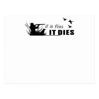 Cartão Postal moscas morre