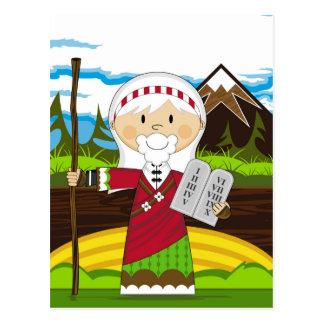 Cartão Postal Moses e os dez mandamentos