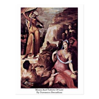Cartão Postal Moses e tabuletas da lei por Domenico Beccafumi