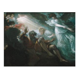 Cartão Postal Moses mostrado a terra prometida