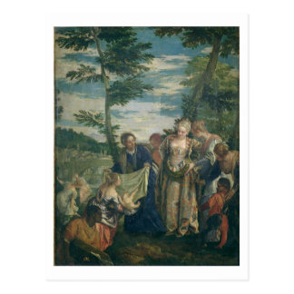 Cartão Postal Moses salvou do Nile, 1580 (o óleo em canvas)