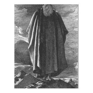 Cartão Postal Moses vê a terra prometida por Frederic Leighton