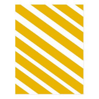 Cartão Postal Mostarda diagonal da viga da listra amarela