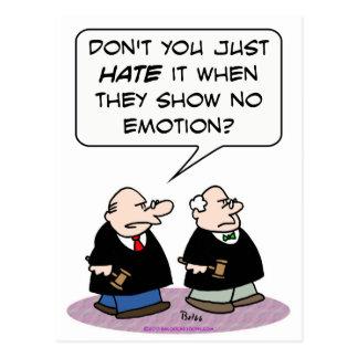 Cartão Postal mostra do ódio do juiz nenhuma emoção