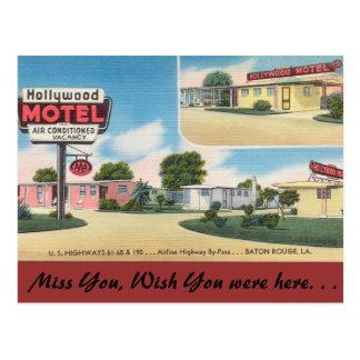 Cartão Postal Motel de Louisiana, Hollywood, Baton Rouge
