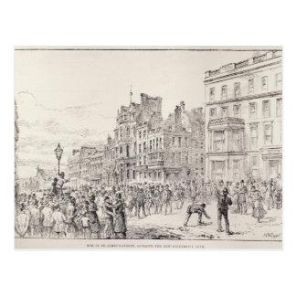 Cartão Postal Motins no West End de Londres