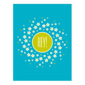Cartão Postal Motivo da roda de margarida