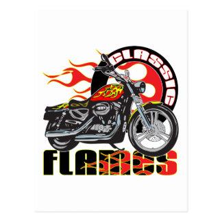Cartão Postal Motocicleta clássica do trabalho da pintura da