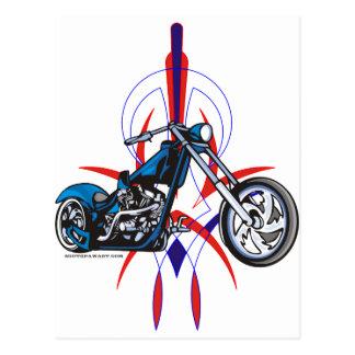 Cartão Postal Motocicleta das riscas