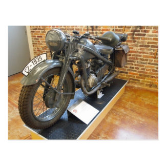 Cartão Postal Motocicleta militar do vintage CZ-1935