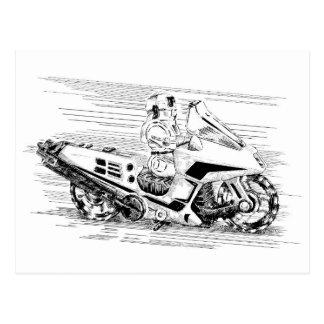 Cartão Postal Motocicleta retro/helicóptero do brinquedo