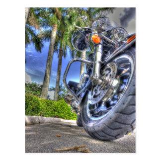 Cartão Postal Motocicleta tropical