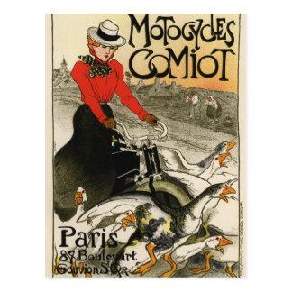 Cartão Postal Motocicletas de Comiot