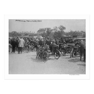 Cartão Postal Motocicletas requisitadas, fotografia de Paris
