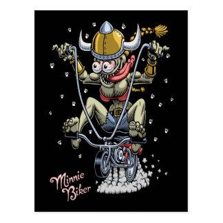 Cartão Postal Motociclista de Minnie