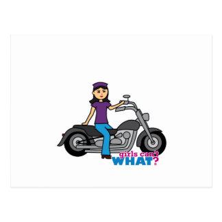 Cartão Postal Motociclista - meio