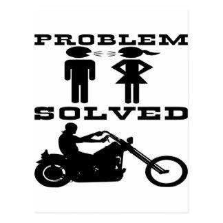 Cartão Postal Motociclista resolvido problema #003