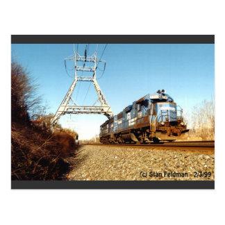 Cartão Postal Motor 7741 de Conrail no PA de Pencoyd