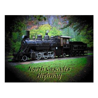 Cartão Postal Motor aposentado do trem das luzes de Seattle