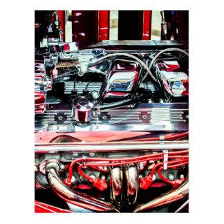 Cartão Postal Motor de automóveis