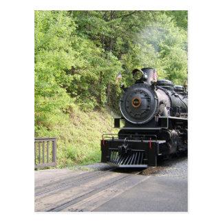 Cartão Postal motor de vapor