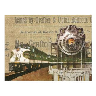 Cartão Postal Motor de vapor locomotivo Steampunk do trem do