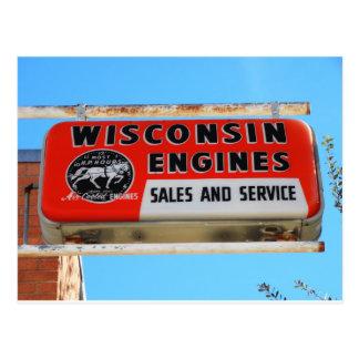 Cartão Postal Motores de Kingman Wisconsin da rota 66 do sinal