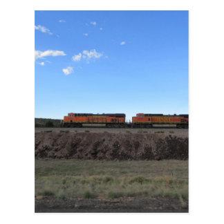 Cartão Postal Motores do trem
