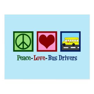 Cartão Postal Motorista de auto escolar do amor da paz