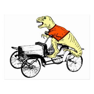 Cartão Postal Motorista de T-Rex